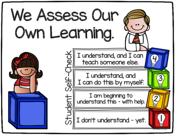 Self-Assessment Tools - Posters, Cards, & Student Response Page