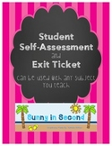 Student Self-Assessment and Exit Ticket - ANY Subject