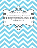 Student Self Assessment for CCSS RL.3.4