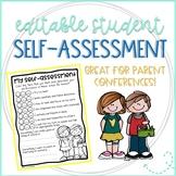 Student Self-Assessment for Parent Conferences
