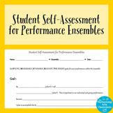 Student Self-Assessment for Performance Ensembles