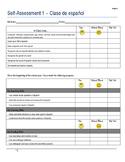 Student Self-Assessment Template for Semester 1 ~ Grade 4