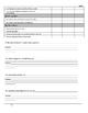 Student Self-Assessment Template for Semester 1 ~ Grade 5