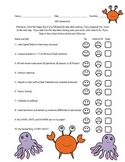 Student Self Assessment for Writing