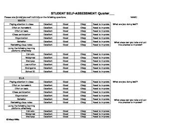 Student Self-Assessment of Classes