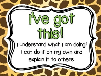Student Self Assessment of Learning {Animal Print}