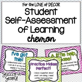 Student Self Assessment of Learning {Chevron}
