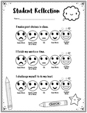 Student Self-Assessment with Emojis:  Younger Elementary (Perfect for ART)