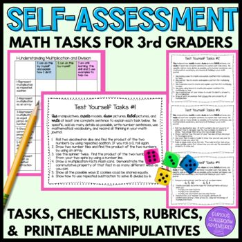 Student Self-Assessments for 3rd Grade Math (Mathematical Mindsets)