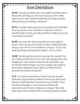 Student Self-Care Evaluation