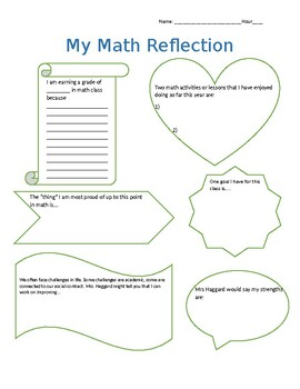 Student Led Conference reflection