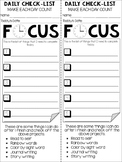 Student Self-Directed Checklist