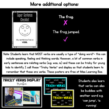 Student Self-Edit Sentence Checklist