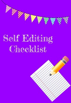Student Self Editing Checklist
