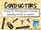 Insulators and Conductors Poster Set