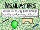 Insulators and Conductors Poster Set