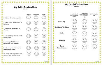 Student Self Evaluation (3rd Grade)