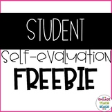 **Student Self Evaluation** - FREEBIE!