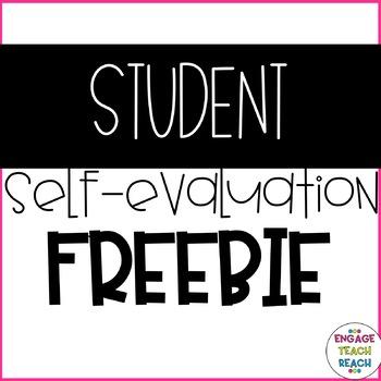 **Student Self Evaluation** - FREEBIE!