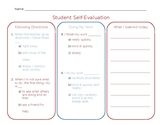 Student Self-Evaluation