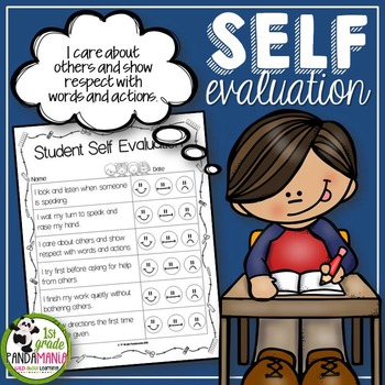Student Behavior Self Evaluation FREEBIE