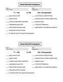 Student Self-Evaluation For Book Clubs