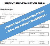 Student Self-Evaluation Form (Ideal for Parent-Teacher Conferences)