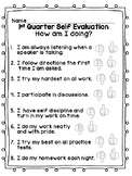 Student Self-Evaluation & Self-Review
