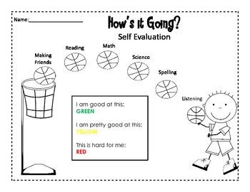 Student Self Evaluation Sheets {Perfect for Parent Teacher Conferences}