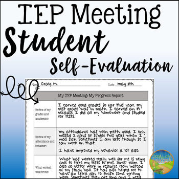 Student Self-Evaluation for IEP Meetings