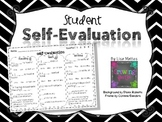 Student Self Evaluation for Report Cards or Conferences - Freebie!