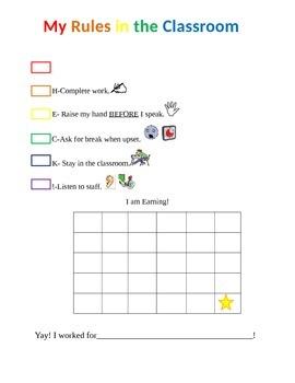 Student Self-Management Chart