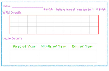 Student Self-Monitoring Reading Notebook Data Logs