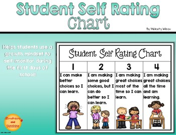 Student Self Rating / Monitoring Chart Classroom Management Growth Mindset