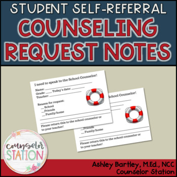 Student Self-Referral School Counseling Request Forms