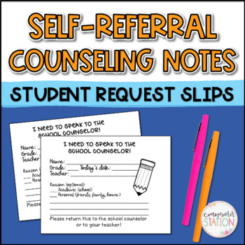Student Self-Referral Counseling Request Notes