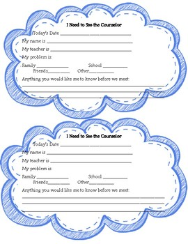 Student Self-Referral for Counselor