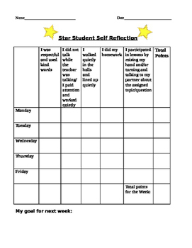 Student Self Reflection