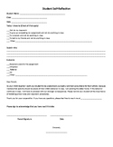 Student Self-Reflection/Accountability Form