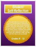 Student Self-Reflection: Conferences