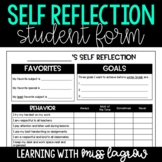 Student Self Reflection Evaluation Form