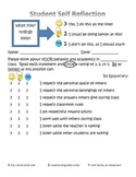 Student Self-Reflection Form