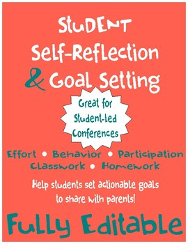Student Self-Reflection & Goal Setting: Great for All kinds of Conferences!