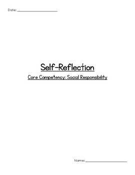 Student Self-Reflection & Goals - Social Responsibility (B