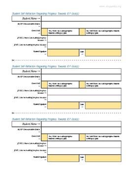 Student Self-Reflection RE: Progress Towards IEP Goal(s)