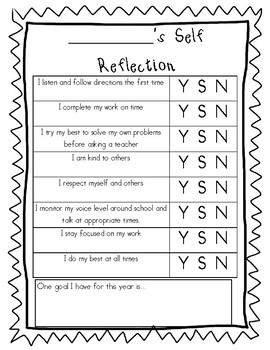 Student Self Reflection Rubric... Student Led Conferences