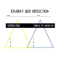 Student Self Reflection Sheet