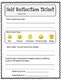 Student Self-Reflection Ticket