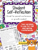 Student Self-Reflection for Conference or Growth Mindset