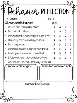 Student Self Reflections